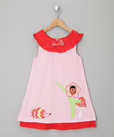 Take a look at this Pink Enchanted Forest Corduroy Dress - Infant, Toddler & Girls by Powell Craft on #zulily today!