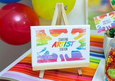 Colourful Art Birthday Party | CatchMyParty.com