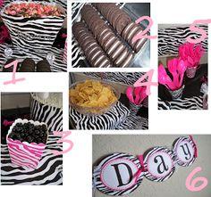 Hot Pink Zebra Birthday Party Ideas #animalprint #party #birthday