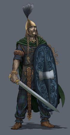 Celtic nobleman by Christian Sloan Hall Medieval Fantasy, Dark Fantasy, Fantasy Inspiration, Character Inspiration, Character Portraits, Character Art, Pictish Warrior, Celtic Warriors, Celtic Culture
