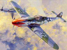 Messerschmitt Bf-109K-4 of Hermann Graf, by Shigeo Koike.