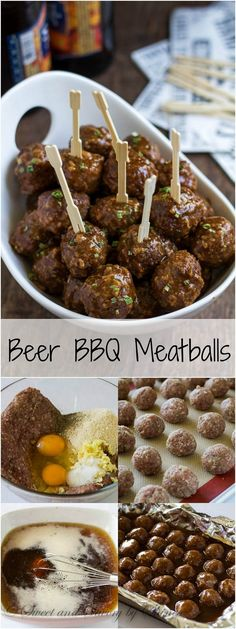 Ditch that grape jelly cocktail meatball recipe. Spoil your guests with these savory beer BBQ meatballs instead!