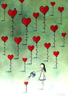 Illustration by Amanda Cass Illustration Art, Illustrations, I Love Heart, Love Heart Images, All You Need Is Love, Whimsical Art, Be My Valentine, Heart Shapes, Doodles
