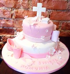 Kommunionstorte Cake, Desserts, Food, Fiction, Tailgate Desserts, Deserts, Kuchen, Essen, Postres
