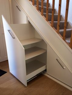 Understair storage. Pull out drawers.