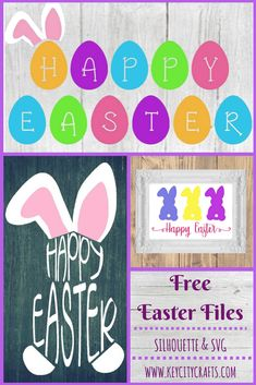 Free Easter cut files for Silhouette & Cricut from Key City Crafts.