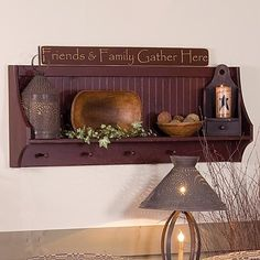 Primitive wall shelf with shaker pegs, perfect for all your country knickknacks! Description from uk.pinterest.com. I searched for this on bing.com/images
