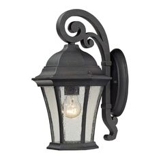 Wellington Park 1 Light Outdoor Sconce In Weathered Charcoal 45050/1
