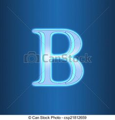 Stock Illustration - neon sign with the letter B isolated on blue background - stock illustration, royalty free illustrations, stock clip art icon, stock clipart icons, logo, line art, pictures, graphic, graphics, drawing, drawings, artwork