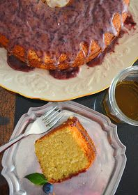 Once Upon A Plate...: Kentucky Bourbon Cake with Blueberry Bourbon Basil Glaze Whiskey Chocolate, Bourbon Cake, Shes Amazing, Kentucky, Basil, Blueberry, Glaze, Favorite Recipes, Canning