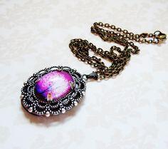 Items similar to Violet Daze-- Small Wearable Art Locket-Valentine's Gift.photo locket on Etsy Silver Locket Necklace, Tree Necklace, Silver Lockets, Jewelry Art, Unique Jewelry, Jewelry Ideas, Diy Jewelry Making, Brass Chain, Wearable Art