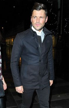 Stepping out to brave Manchester's wintry conditions over the weekend, TV presenter Mark Wright opted to wear our Goose funnel neck coat th...
