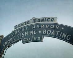 Blue Beach Decor California Wall Art Landmark by OffleyGreenPhoto, $30.00