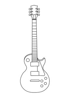 Les Paul Vector Outline +WiP+ by suicidalmofo on DeviantArt Guitar Drawing, Guitar Painting, Music Drawings, Outline Drawings, Guitar Diy, Cool Guitar, Guitar Cake, Colouring Pages, Adult Coloring Pages