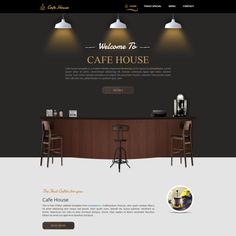 Cafe House is a mobile-friendly Bootstrap v3.3.5 responsive layout. This is a small coffee shop theme design with beautiful graphics and a preloader effect.