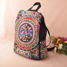 795f016dfe backpack mochila Picture - More Detailed Picture about National trend canvas  embroidery Ethnic backpack women handmade flower Embroidered Bag Travel Bags  ...
