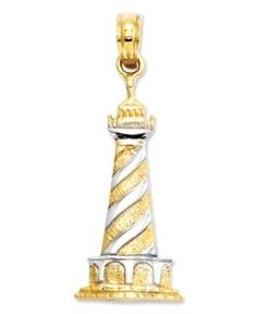Gold & Silver Lighthouse Charm