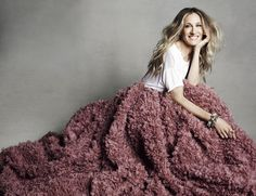 SJP in Christian Siriano skirt for Marie Claire's September 2011 issue
