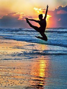 Beach Jump Pic - Angie