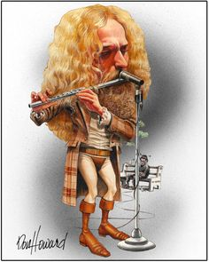 Ian Anderson Limited Edition Celebrity Caricature by Don Howard