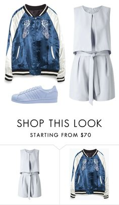 """Untitled #476"" by sarahtwohig ❤ liked on Polyvore featuring Miss Selfridge, Zara and adidas Originals"
