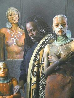 Woodrow Nash Cardboard Sculpture, Sculpture Art, African Art Paintings, Renaissance Artists, Africa Art, Black Artwork, Popular Art, Wow Art, Black Artists