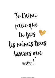 Quotes and inspiration QUOTATION - Image : As the quote says - Description Fichier numérique Affiche Je t'aime amour Sharing is love, sharing is everything A4 Poster, Quote Citation, I Love You, My Love, French Quotes, Some Words, Digital Image, Relationship Quotes, Bff