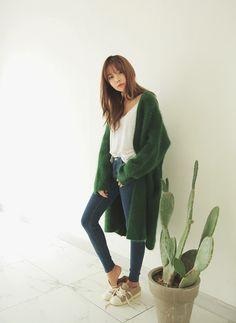 Ulzzang зима урожай с свитера конструкции мода кардиганы верхняя одежда зеленый и кофе Soild цветкупить в магазине CranberryнаAliExpress