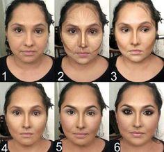 maquillaje para cara redonda 1