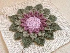 The Crocodile Flower pattern by Joyce D. Lewis Ravelry: Project Gallery for The Crocodile Flower pattern by Joyce Lewis Crochet Blocks, Granny Square Crochet Pattern, Crochet Stitches Patterns, Crochet Squares, Crochet Motif, Crochet Designs, Crochet Yarn, Crochet Flowers, Crochet Granny
