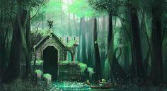 Landschaftsartwork Zelda