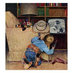 'Good Guys Wear White Hats' by John Falter (1957)
