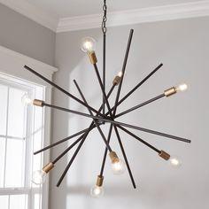 Entry Chandelier, Chandelier In Living Room, Chandelier Shades, Sputnik Chandelier, Bathroom Chandelier, Vaulted Ceiling Lighting, Entry Lighting, Living Room Lighting Ceiling, Kitchen Lighting