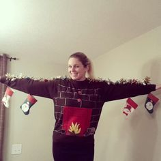 DIY Christmas Sweaters, although the ugly christmas sweater is over done these are HILARIOUS! 35 cheap and easy ugly christmas sweater diys it's the time of Diy Ugly Christmas Sweater, Ugly Xmas Sweater, Christmas Jumpers, Christmas Fun, Christmas Skirt, Xmas Sweaters, Christmas Hacks, Christmas Decorations, Grumpy Cat