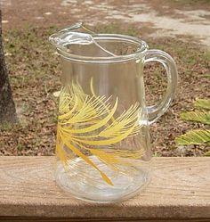 Vintage Libbey 2 Qt Clear Wheat Glass Pitcher | eBay