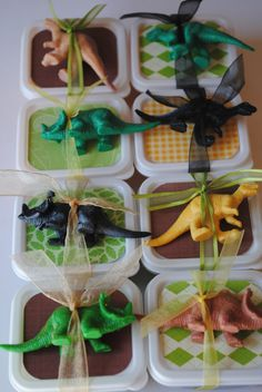 Dinosaur Party Favours or Dinosaur Party Game Idea - Dinosaur Dig
