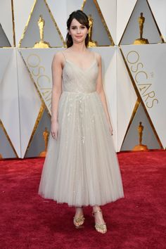 9af4d2e821d9d0 Felicity Jones in Dior. Oscar GownsOscar DressesRed Carpet ...
