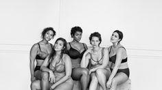The lingerie adwhere curvy ladies challenge skinny models.