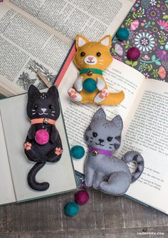 Easy DIY Felt Crafts, Felt Crafts Patterns and Heartily Felt Crafts Leyland. Easy Felt Crafts, Cat Crafts, Sewing Crafts, Sewing Projects, Diy Projects, Sewing Ideas, Felt Crafts Dolls, Stick Crafts, Felt Projects