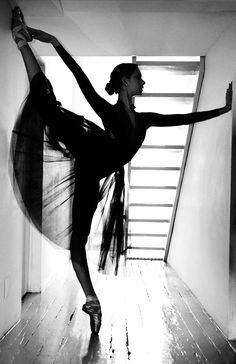 ballerina's silhouette