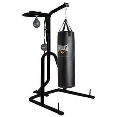 Everlast Three-Station Heavy Duty Punching Bag Stand, Black