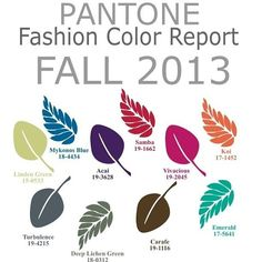 Pantone fall 2013