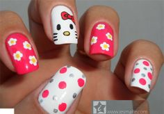 diseno de unas Hello Kitty London Christmas Gifts, Hello Kitty Nails, Tumblr Iphone, Phone Background Patterns, Unicorn Nails, Manicure Y Pedicure, Fun Snacks For Kids, Bath And Beyond Coupon, Cute Nail Designs