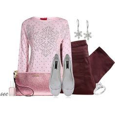"""""""Snowflake Sparkle"""" by coombsie24 on Polyvore"""