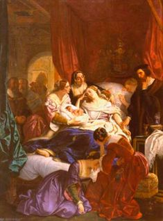 The death of Jane Seymour by Eugene Deveria