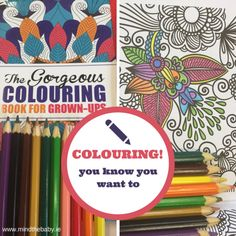 How to not completely lose your sh!t - #mindfulness Adult Colouring Books