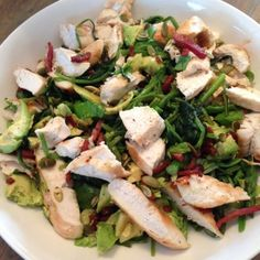 Gezonde salade asperges en spinazie