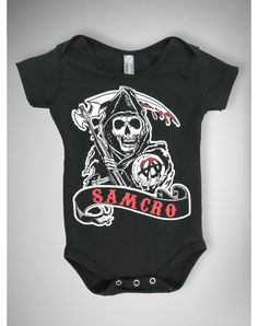 Party points to ME! I just found the Sons of Anarchy Samcro Infant Snapsuit from Spencer's. Visit their mobile website to get this item and more like it.