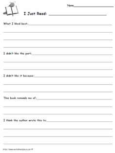 Reading Response Journal Prompts and Reading Logs - 4th Grade Read ...