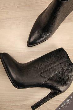 Bottillons d'automne à talon aiguille noir - Black high heels fall booties